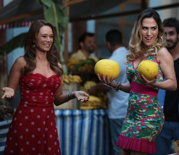 Teremos Fedora e Tancinha juntas na feira! (Foto: Isabella Pinheiro/Gshow)