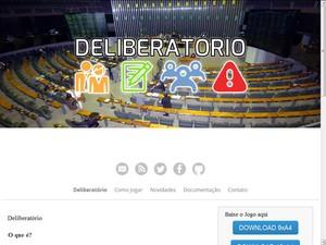 Deliberatório, um dos projetos vencedores da 1ª Maratona Hacker da Câmara dos Deputados  (Foto: Reprodução)