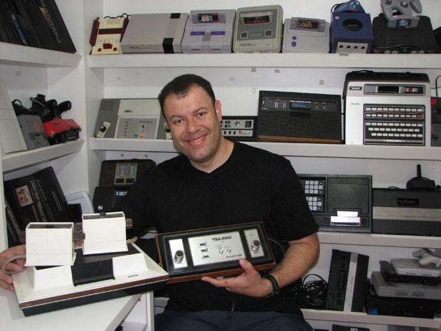 O jornalista Cleidson Lima, curador do Museu do Videogame, o 1º do gênero no Brasil. (Foto: Divulgação/Arquivo Pessoal/Cleidson Lima)