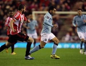 tevez Sunderland x manchester city (Foto: AP)