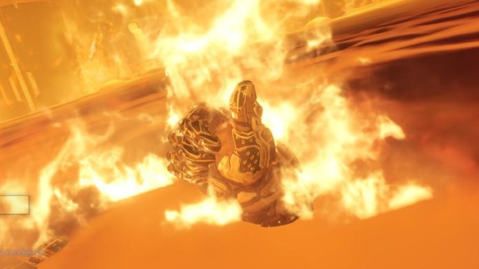 O protagonista de Doom dá um joinha como em o Exterminador do Futuro 2 (Foto: Reprodução/GameRanx)
