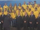 Temer recebe atletas no Planalto, e fala em 'democracia estável'