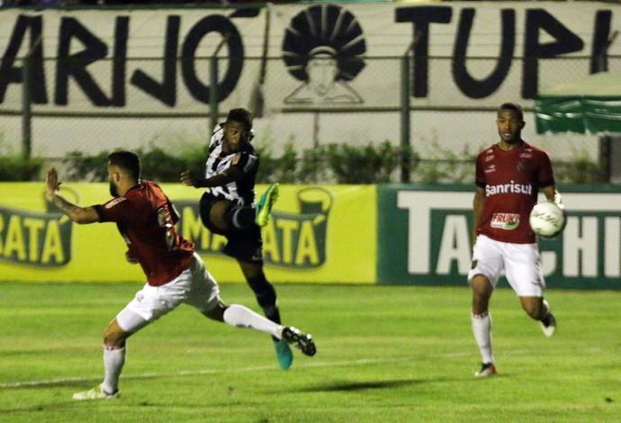Luiz Paulo lateral-esquerdo Tupi-MG gol (Foto: Leonardo Costa/tupifc.esp.br)