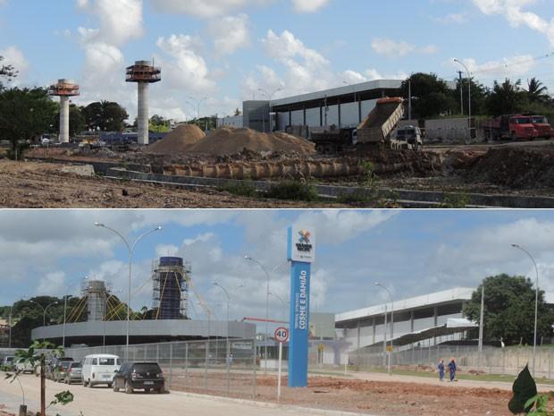 Terminal Cosme e Damião custou R$ 18 milhões e sofreu críticas durante a Copa das Confederações (Foto: Luna Markman e Vitor Tavares/G1)