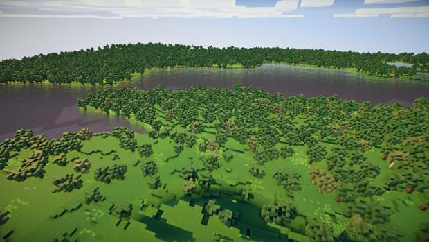 Aqui, o jogador 'lentebriesje' reconstruiu o Canal da Mancha, no Oceano Atlântico (Foto: Reprodução/PC Gamer)