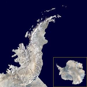 Mapa da Península Antártica (Foto: NASA Blue Marble project)