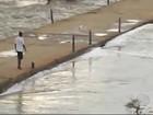 Após estiagem, chuva em Jussiape eleva barragem e faz rio transbordar