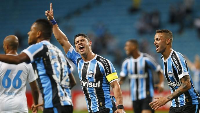Gol do Grêmio, de Giuliano, contra o Avaí (Foto: Lucas Uebel/Grêmio, Divulgação)