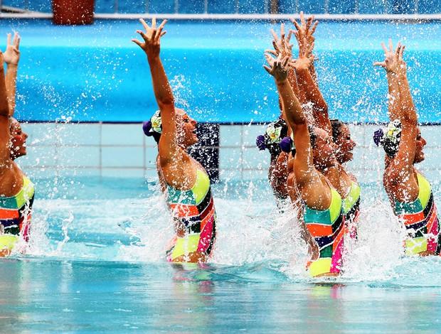 Nado Sincronizado Campeonato Sul-Americano de Desportos Aquáticos (Foto: Satiro Sodré/Agif)