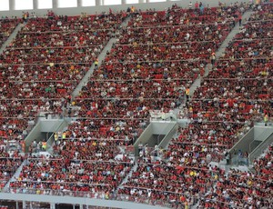Torcida Flamengo Mané Garrincha (Foto: Cahê Mota)