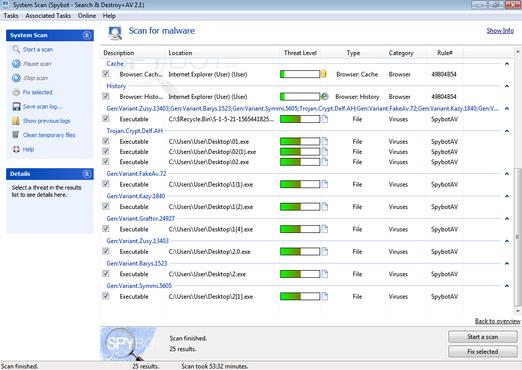 screenshot de Spybot - Search & Destroy