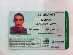 Manoel Gomes Teixeira Neto (Foto: Reprodução/Matheus Magalhães/G1)