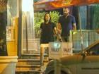 Malvino Salvador e Kyra Gracie têm noite romântica no Rio