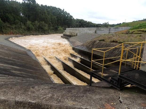 Barragem de Ituporanga está sendo monitorada pela Defesa Civil (Foto: Defesa Civil/ Divulgaçao)