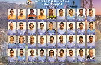 Seleção uruguaia divulga pré-lista para a Copa América com 35 nomes