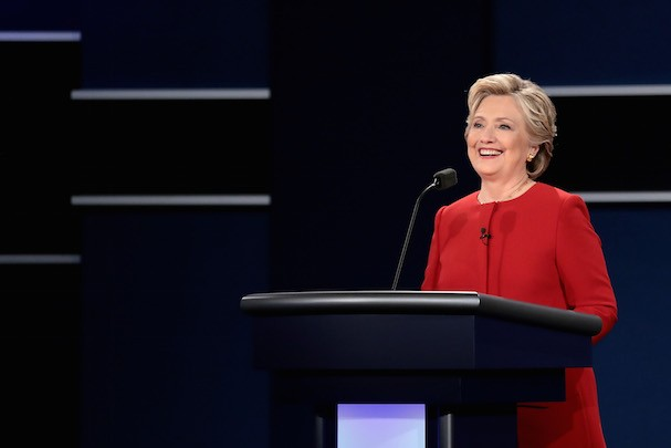 Hilary Clinton no debate à presidência dos EUA (Foto: Getty Images)