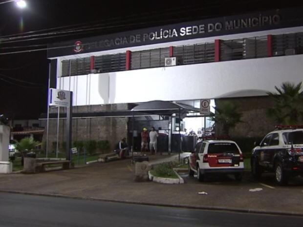 Delegacia sede de Praia Grande, SP (Foto: Reprodução / TV Tribuna)