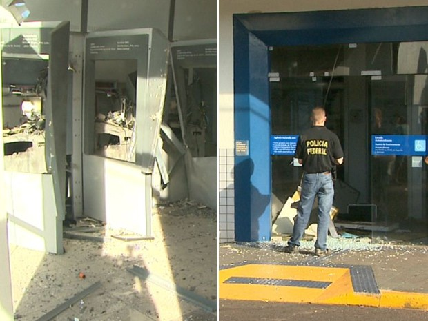 Agências do Banco do Brasil e da Caixa Econômica Federal foram alvos das ações (Foto: Paulo Souza/EPTV)