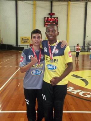 Goleiro Kederson Robert, do Goiás, foi revelado no Uberlândia Futsal (Foto: Kederson Robert/Arquivo Pessoal)