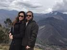 Núbia Óliiver assume namoro com empresário durante viagem ao Peru