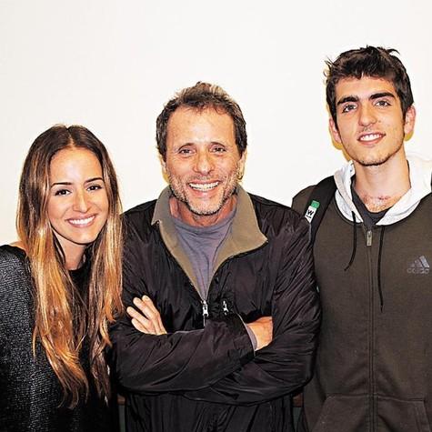 Erika Mader, Tony Belotto e João Mader Belotto (Foto: Arquivo pessoal)