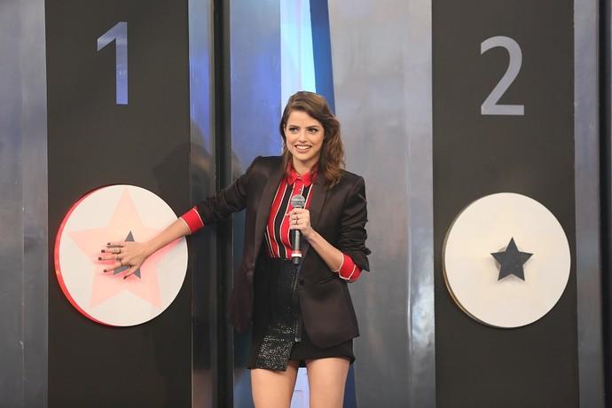 Agatha Moreira participou do 'Ding Dong' do 'Domingão' (Foto: Carol Caminha/Gshow)
