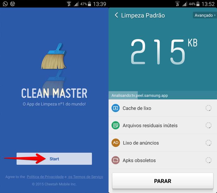 Basta iniciar o aplicativo para que ele busque os arquivos que podem ser apagados (Foto: Reprodução/Filipe Garrett)
