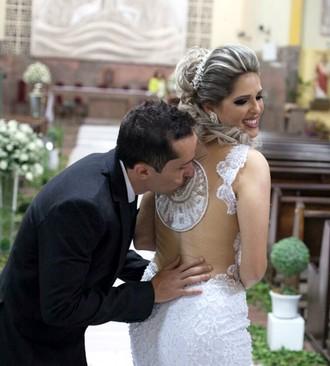 Noiva palmeirense, Larissa, Paulo Vitor (Foto: Arquivo pessoal)