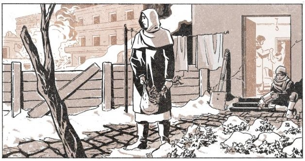 Inspirada em uma cidadã síria anônima, a protagonista chegou a quebrar um armário de madeira para fazer uma fogueira e esquentar seus filhos (Foto: Marvel)