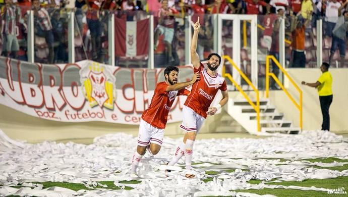 Jonas tem três gols na temporada pelo Sergipe (Foto: Ricardo Espinheira)