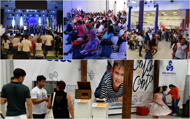 Solenidade de abertura da 30ª Feira de Livros do Sesc (Foto: Onofre Martins/Rede Amazônica)