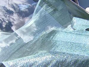 Protetor laminado é opção para escapar de calor em carros (Foto: Reprodução/ EPTV)