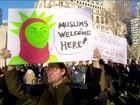 Decisão de Trump de barrar entrada de imigrantes nos EUA gera protestos