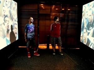 Visita fica entre torcidas de equipes rivais em exposição do Museu do Futebol em Piracicaba (Foto: Rafael Bitencourt)