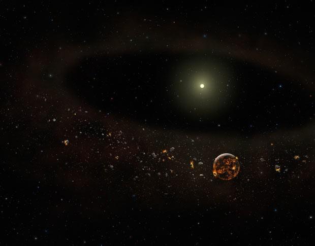 Estrela 2 (Foto: Gemini Observatory/AURA artwork by Lynette Cook.)