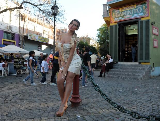 Andressa Urach na Argentina (Foto: Francisco Cepeda / AgNews)