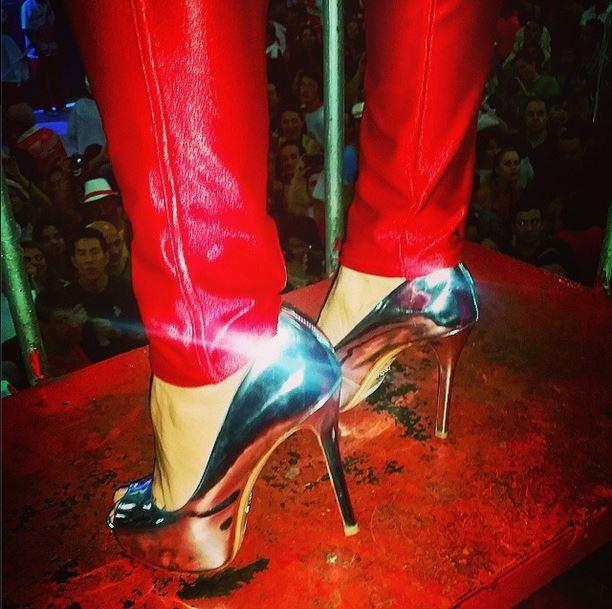Detalhe do sapato de Viviane Araújo (Foto: Reprodução/Instagram)