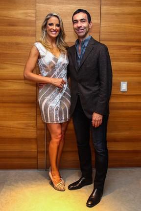 Ticiane Pinheiro e César Tralli na festa da apresentadora em São Paulo (Foto: Manuela Scarpa/ Foto Rio News)