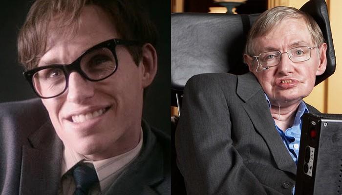 Eddie Redmayne e o físico Stephen Hawking (Foto: Divulgação/Flickr/Lwp Kommunikáció)