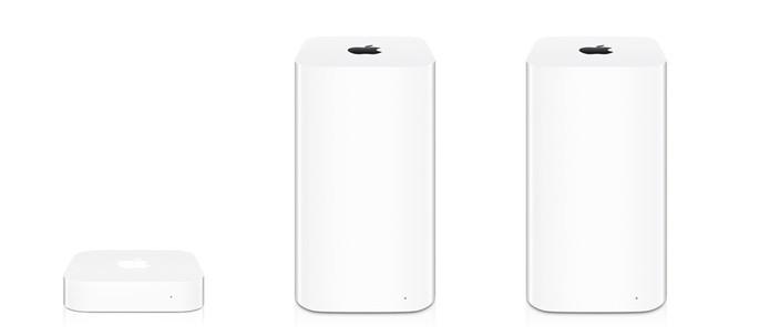 Linha AirPort da Apple contém três modelos; veja as diferenças (Foto: Divulgação/Apple)