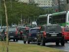 Protesto de motoristas para linhas de ônibus em cidades da região