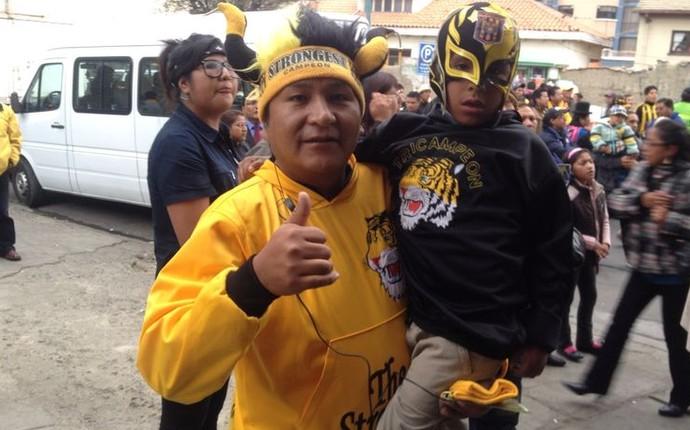 Torcedores strongest la paz bolivia libertadores atlético-pr (Foto: Monique Silva)