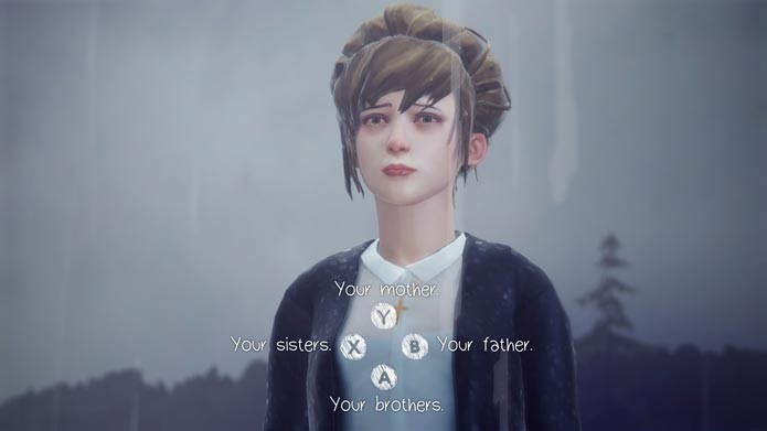 """As únicas opções positivas são """"Your sisters ou """"Your father"""" (Foto: Reprodução/Tais Carvalho)"""