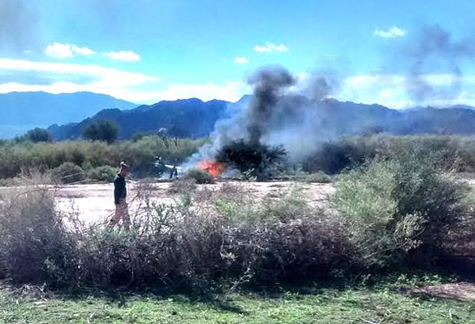 Acidente helicóptero argentina  (Foto: Agência AP )