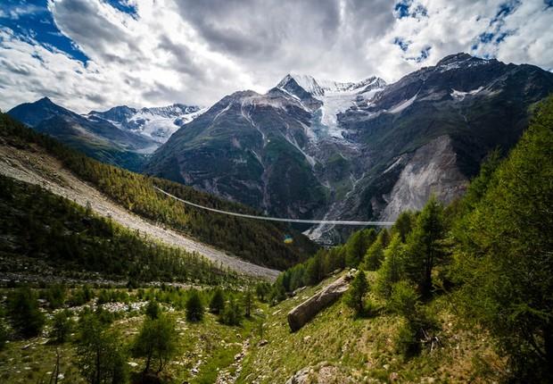 A ponte Charles Kuonen liga as cidades de Zermatt e Grächen (Foto: Zermatt Matterhorn)