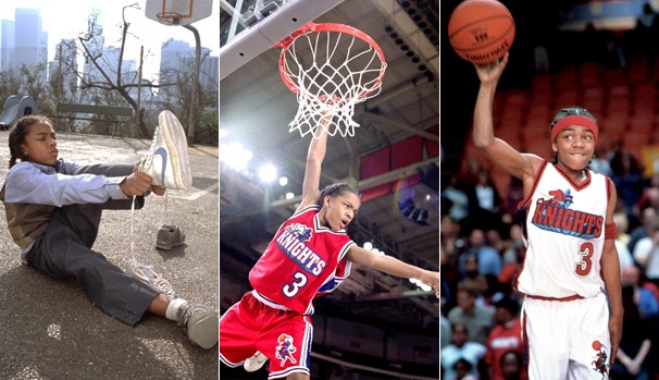 Depois de calçar um tênis com as iniciais 'MJ', Calvin se vê entre as estrelas da NBA (Foto: Divulgação/Reprodução)