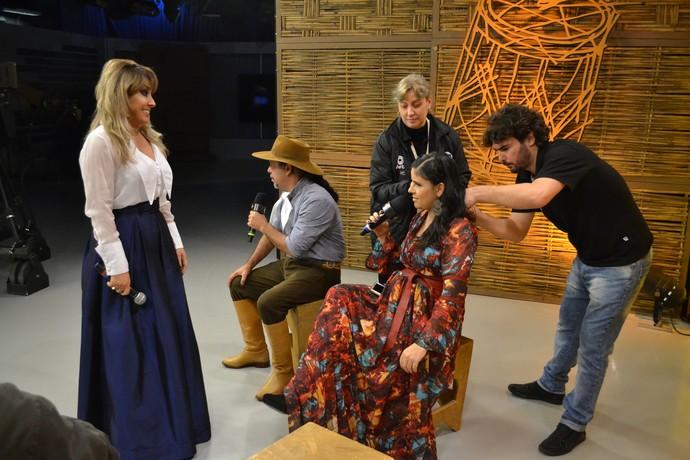 Fátima Gimenez Galpão Crioulo (Foto: Maicon Hinrichsen/RBS TV)