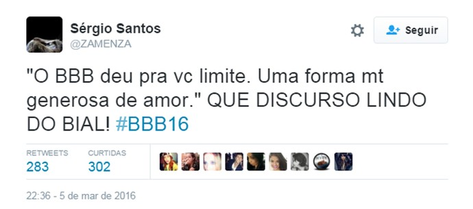 BBB 16 Twitter (Foto: Reprodução/Internet)
