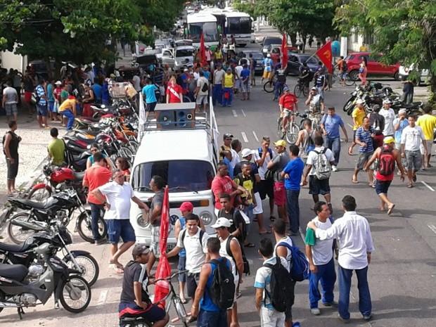 Trabalhadores da construção civil fazem segundo dia de mobilização em Belém. (Foto: Rui Baiano/ Arquivo Pessoal. )