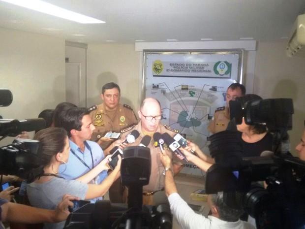 Comandante-geral da Polícia Militar afimrou que instituição não pode entrar em pânico (Foto: Alceu Nascimento/RPC)